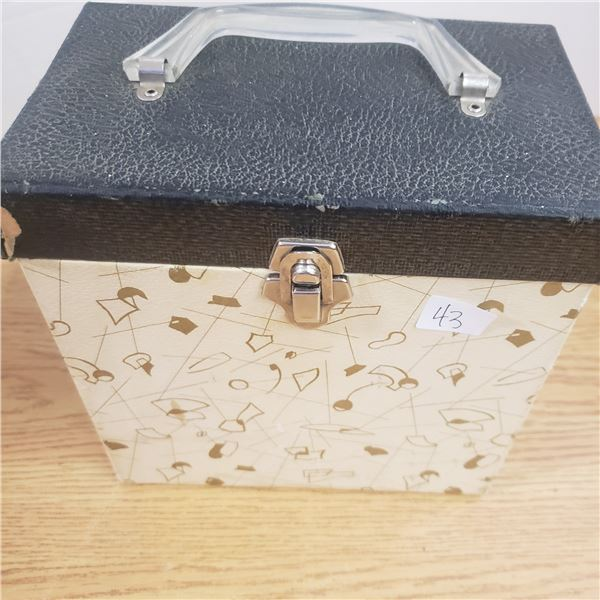 Variety of 45 records with carrying case