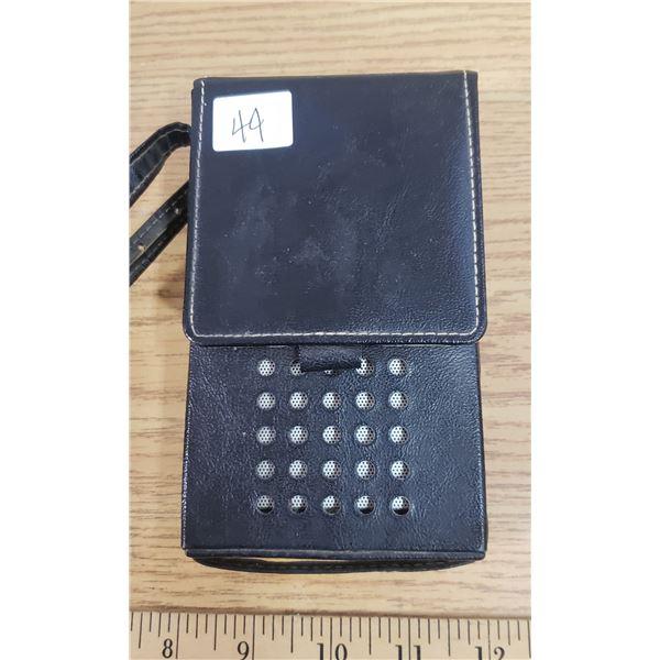 RCA portable transistor radio - leather case