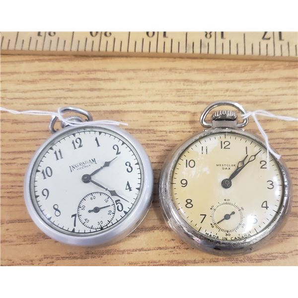 1940s Westclox and Ingraham pocket watches