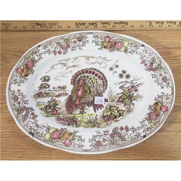 """Oval turkey platter 16"""" Japan"""