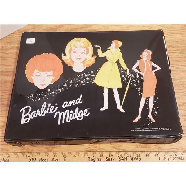 "1964 Barbie and Midge doll case Mattel 13"" x 18"""