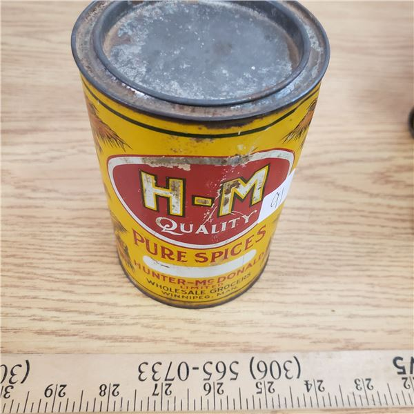 H-M pure spices tin Winnipeg