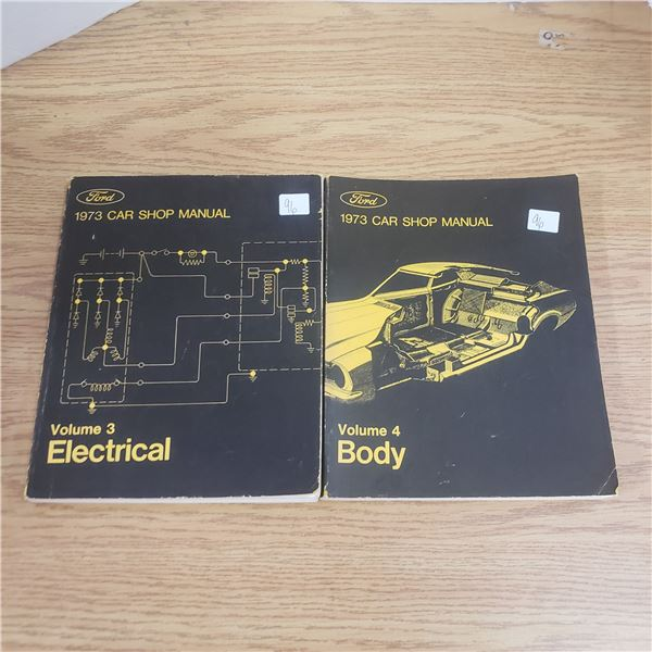 Ford 1973 Volume 3 and 4 Body and electric manuals