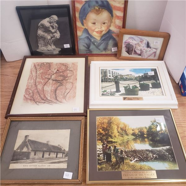 Seven Assorted prints and pictures with frames
