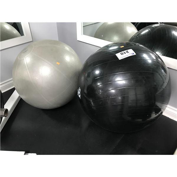 2 YOGA BALLS (55CM & 65CM)