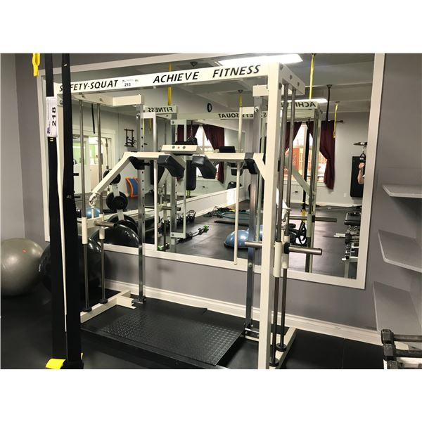 ACHIEVE FITNESS SAFETY-SQUAT - SQUAT MACHINE (WEIGHTS NOT INCLUDED)