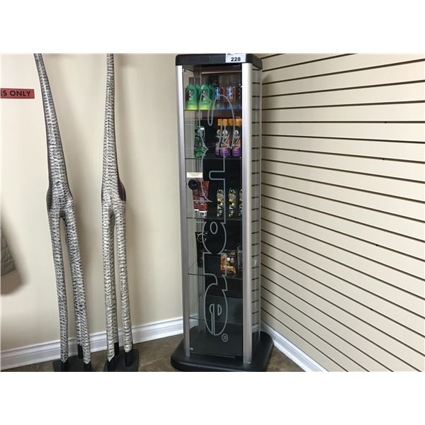 GLASS DISPLAY CASE 59  X 16  X 14  (PRODUCT NOT INCLUDED)
