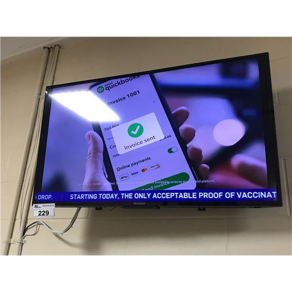 WESTINGHOUSE 40  FLATSCREEN WITH  REMOTE & WALL MOUNT BRACKET