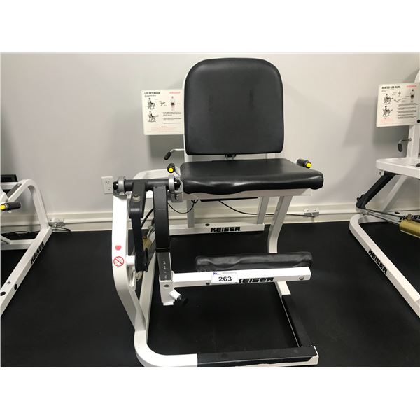 KEISER LEG EXTENSION MACHINE (REQUIRES PRESSURIZED AIR)
