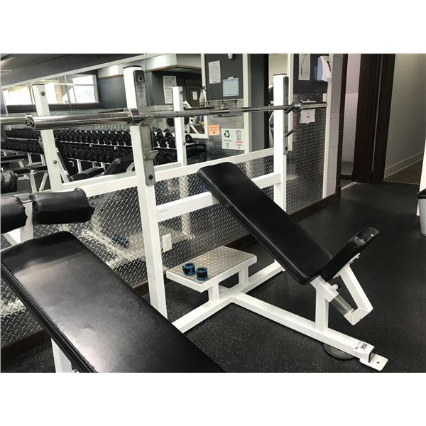 INCLINE WEIGHT BENCH WITH BAR