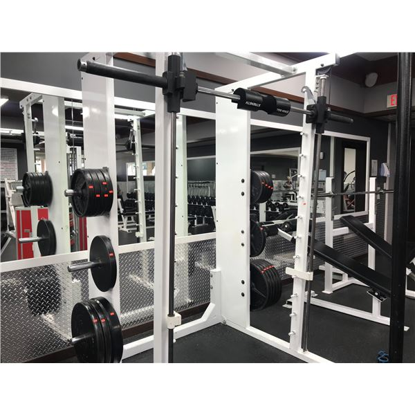 """WEIGHT LIFTING STATION (APPROX 620LBS OF 2"""" PLATES 20 PCS)"""