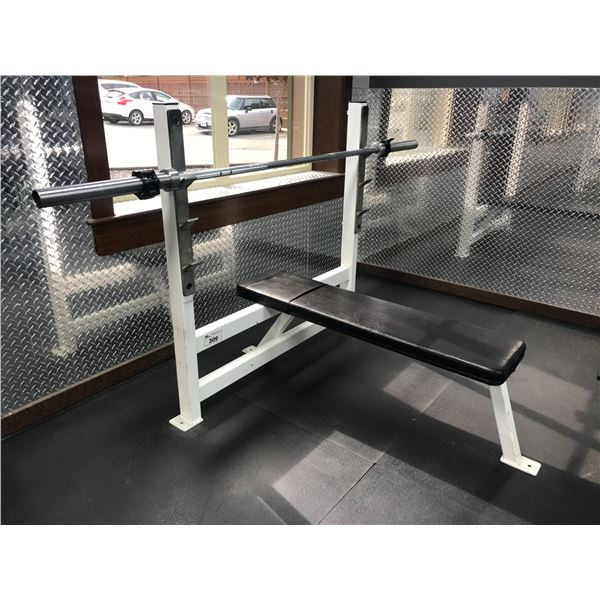 WEIGHT LIFTING BENCH WITH PRO BAR