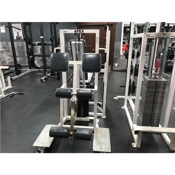 APEX LEG CURL MACHINE (STACK GOES UP TO 150LBS)