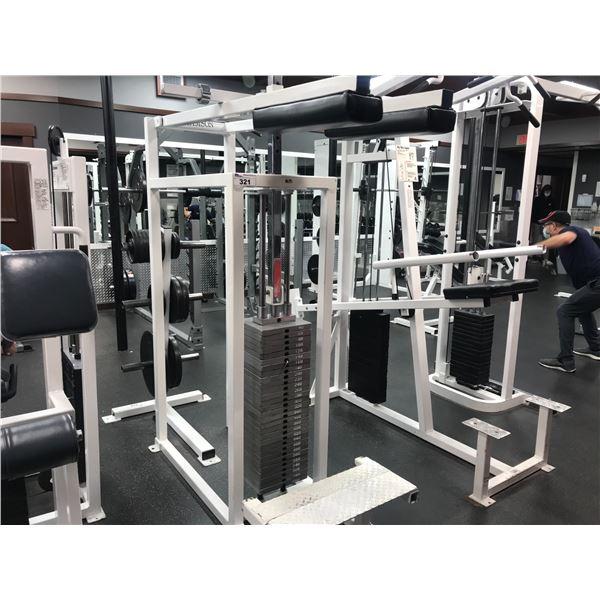 SAMSON SHOULDER PRESS MACHINE WITH 600LBS OF WEIGHTS