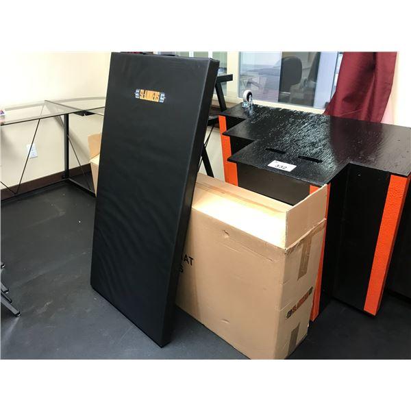LOGOED PVC WORKOUT MAT 2' X 4' NEW IN BOX (5 PER BOX)