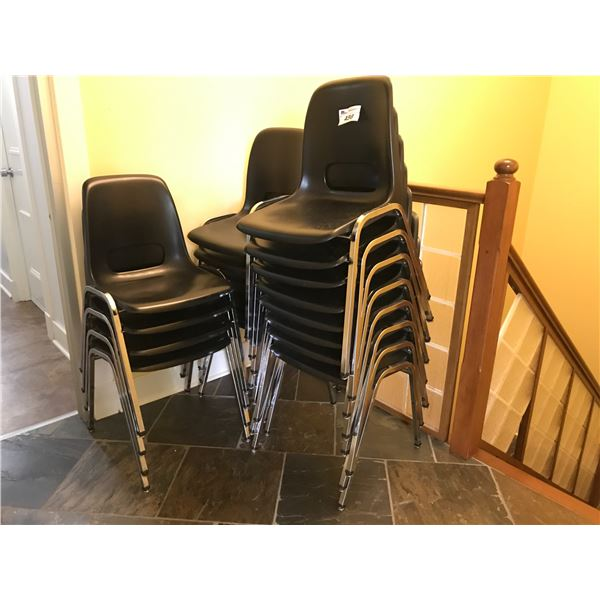 GROUP LOT OF APPROX 26 STACKING CHAIRS