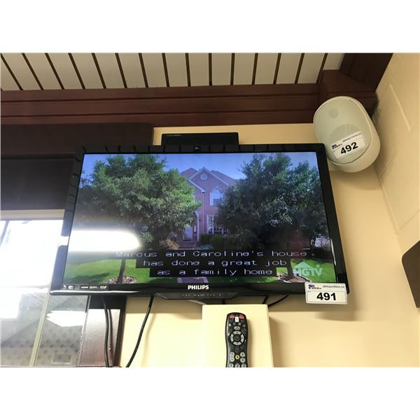 """6 PHILIPS FLAT SCREEN TV 31"""" WITH REMOTES & WALL MOUNT BRACKETS (MUST BE REMOVED FROM WALL)"""