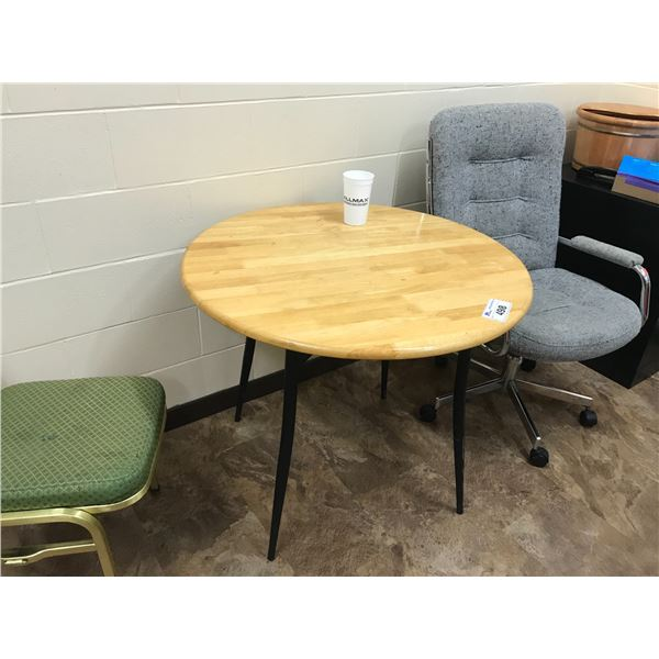 """CONTENTS OF BREAK ROOM - 3 SHELVING UNITS, PHILIPS 28"""" TV WITH REMOTE & WALL MOUNT - MUST BE"""