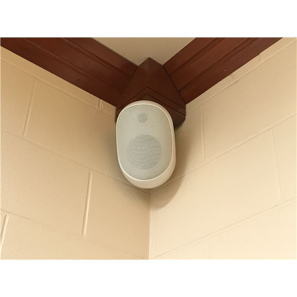 4 WALL MOUNT SPEAKERS - MUST BE REMOVED FROM CEILING