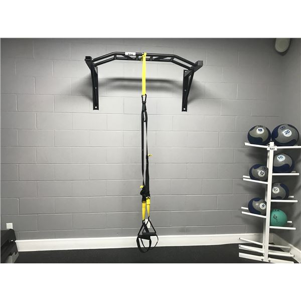 WALL MOUNTED CHIN-UP BAR & TRX SUSPENSION TRAINER