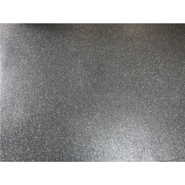 *T - APPROX 140 SQ FEET RUBBER GYM FLOORING SPECKLED
