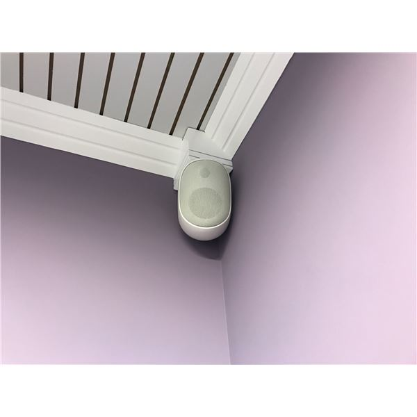 14 WALL MOUNT SPEAKERS (MUST BE REMOVED FROM CEILING) WOMENS GYM