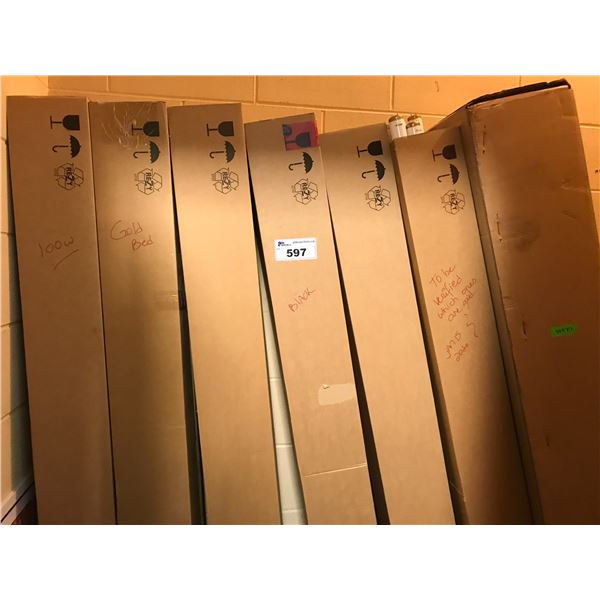 7 BOXES OF ASSTD TANNING BED LIGHTS