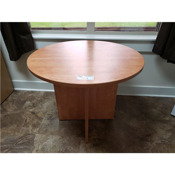 "ROUND WOODEN TABLE 36"" DIAMETER"