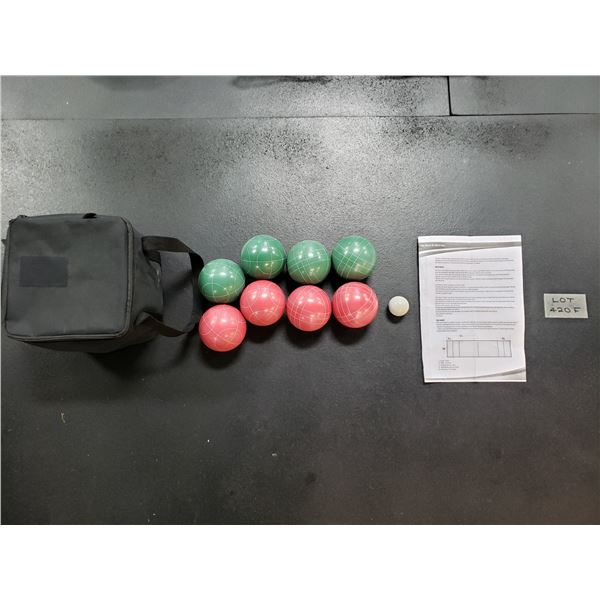 NEW BOCCE BALL SET WITH GAME PLAY INSTRUCTION