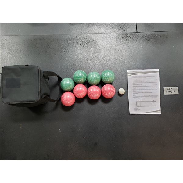 NEW BOCCE BALL SET WITH GAME PLAY INSTRUCTIONS