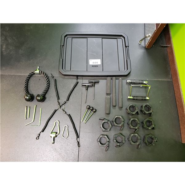 FITNESS EQUIPMENT HARDWARE AND ACCESSORIES - TOTE WITH LID INCLUDED