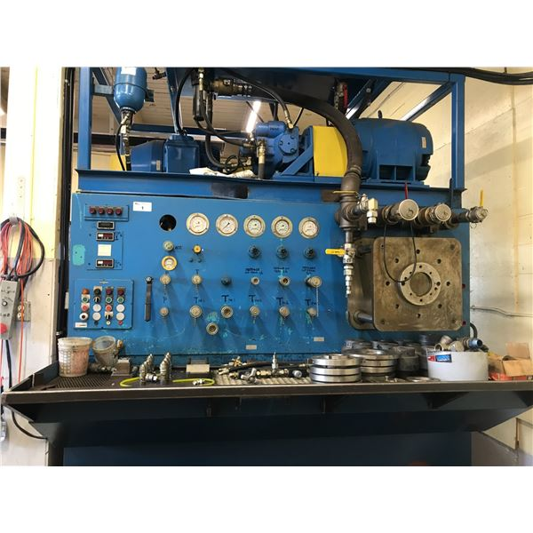 CUSTOM HYDRAULIC TEST BENCH (2 X 100HP MOTORS) COMPLETE TEST BENCH FOR PUMPS & MOTORS, LARGE
