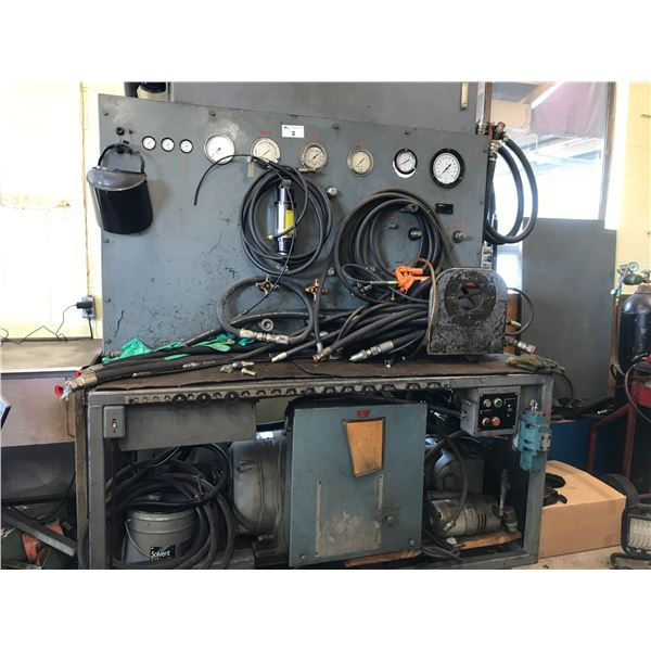 HYDRAULIC TEST BENCH WITH 50HP MOTOR (600V 3PHASE) REQUIRES SETTING UP