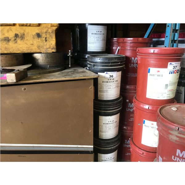 11 PAILS OF AW 36 HYDRAULIC OIL