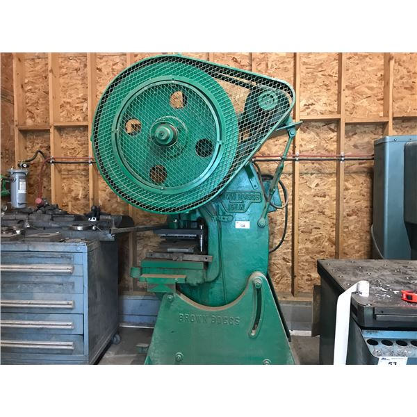 ** BROWN BOGGS 15LW PUNCH PRESS - (LOCATED AT 4647 DUNDALK AVE., PORT ALBERNI)