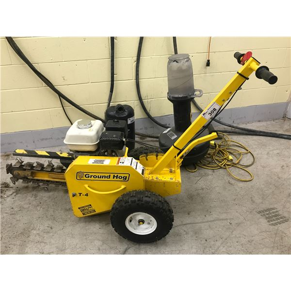 GROUND HOG T-4 GAS POWERED TRENCH DIGGER