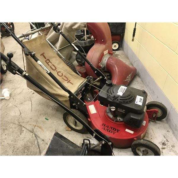 TRU-CUT GAS POWERED REAR BAGGING LAWN MOWER - HONDA MOTOR