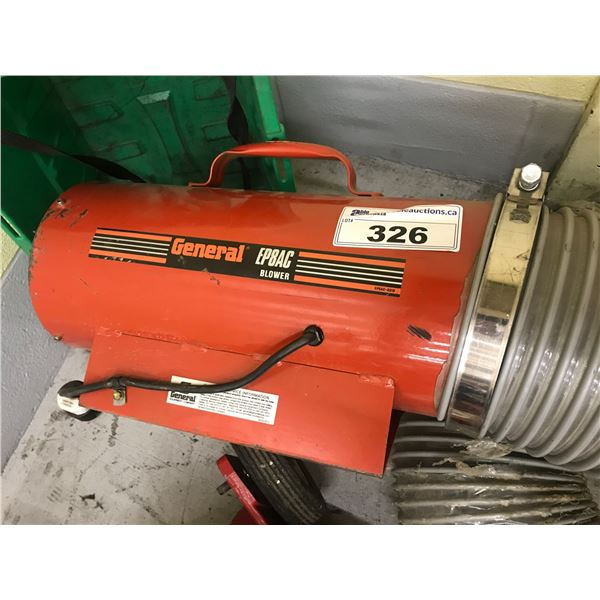 """GENERAL BLOWER - MODEL EP8AC (WITH 24' 8"""" HOSE)"""