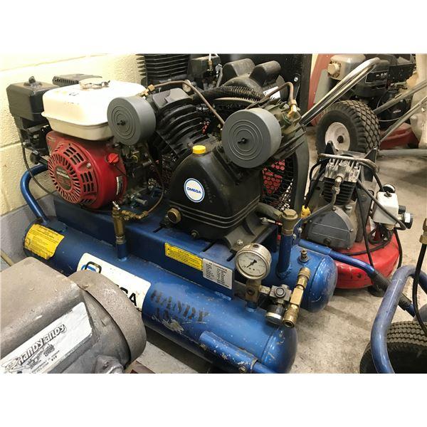 OMEGA GAS POWERED AIR COMPRESSOR - HONDA 5.5HP MOTOR