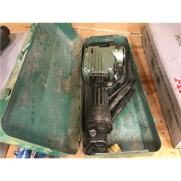 HITACHI  MODEL H65SC JACK HAMMER WITH 2 BITS IN CARRY CASE