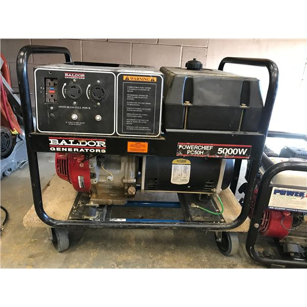 BALDOR POWERCHIEF PC50H 5000W GENERATOR