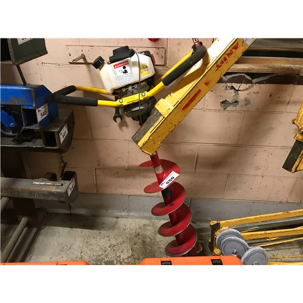 """1-MAN GAS POWERED 8"""" POST HOLE AUGER - REQUIRES REPAIR"""