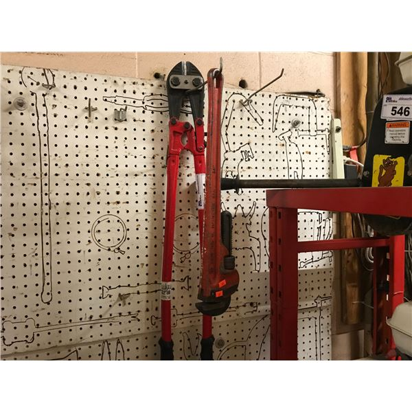 """22"""" PIPE WRENCH & 36"""" BOLT CUTTERS"""