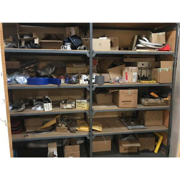 CONTENTS OF CUPBOARD (AIR FILTERS, FUEL FILTERS & MISC REPAIR PARTS) - CUPBOARD IS NOT INCLUDED