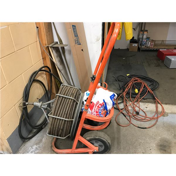 ELECTRIC SEWER AUGER (NEW MOTOR BUT INCOMPLETE) REQUIRES REPAIR