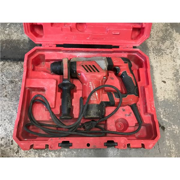 """MILWAUKEE ELECTRIC ROTARY HAMMER MODEL SDS+ 1 1/8"""""""