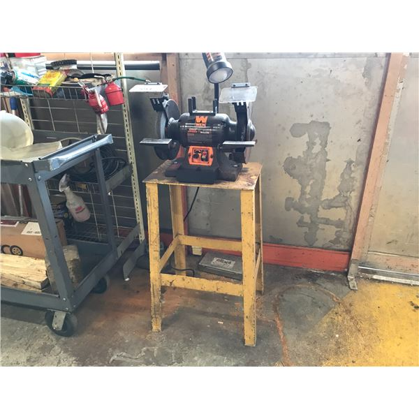 """WEN 8"""" BENCH GRINDER WITH METAL STAND"""