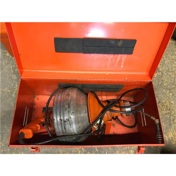 GENERAL SUPER-VEE POWER DRAIN AUGER IN CARRY CASE
