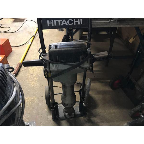 HITACHI ELECTRIC JACK HAMMER MODEL H90SE WITH CART & 2 BITS