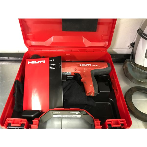 HILTI DX 2 POWDER ACTUATED TOOL WITH CARRY CASE